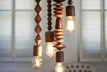 Lighting Ideas / Creating lamps from nature and other old things.