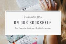 on our bookshelf / A trove of books worth reading for Catholic women. Funny books to summer books, prayer books to cook books, travel books to romance books. The last two are one in the same for us. Wanderlust...