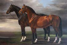 EQUIDAE ARTWORK / HORSES, ASSES, ZEBRAS- Paintings, sketches, sculptures, wood work, mosaics, etc / by Judy Brizido