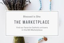 blessed is she marketplace + shop / Where all of our beautiful things live. Find the perfect catholic gifts for the next baby shower or wedding. Or maybe you want to treat yourself to some heavenly fashion or show a sister how much you love her. Muchos gift ideas bonitas.