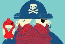 Dragut & Barbarossa / studi per il Pirata del Giglio -diorama¿- gileino-forziere con tesoro- gamba di legno- bandiera pirati- cappello tipico teschio- benda occhio-baffo V.pin Dragut-