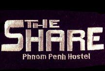 The Share Phnom Penh Hostel / #187,St 19,Sangkat Chey Chumnas,Khan Duan Penh,Phnom Penh ✉the.share.pp.hostel@gmail.com  カンボジアの首都プノンペンの中心にある日本人オーナーのデザインホステルです。