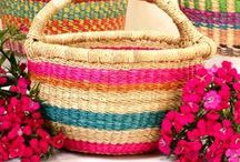 African Bolga Baskets from Ghana / These beautifully woven baskets are also very useful. They are most popular for organization, taking to the market, or unlimited other uses!