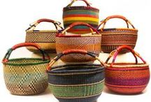 African Baskets - Groupings / Presenting a wide variety of quality Fair Trade African baskets from throughout the continent.