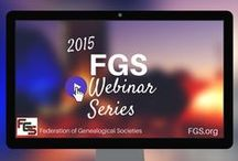 Webinars - Society Management / FGS Webinar Series / by Federation of Genealogical Societies