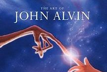 "The Art of John Alvin / Considered the pre-eminent movie campaign artist of the past 35 years, Alvin's career began in 1974 with his creation of the iconic movie poster for Mel Brook's ""Blazing Saddles"". In a career that encompassed multiple projects for such directors as Steven Spielberg, George Lucas, Blake Edwards, Mel Brooks and Ridley Scott, Alvin was considered by many studios as the go-to artist for movie poster and campaign art."