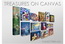 Disney Fine Art: Treasures on Canvas / Limited editions of 1500, gallery wrapped, all for $125 or $150!