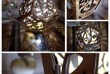 Lampes en bois / Lampes en bois sur mesures. Créations iCustomize  Sur www.icustomize.fr