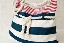 2.bags-tengerész,kék-fehér csíkos