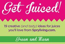JUICE! VEGGIES! Health! / We want to be healthy so we can help build great collections of film art for years to come :)