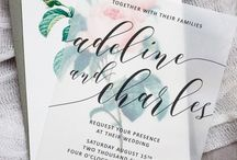 Wedding stationery tricks / Wedding invitation and on the day stationery inspirations.