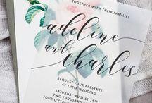 Wedding stationery tricks / Wedding invitation and on the day stationery inspirations.