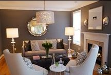 Brown/White seating in LR... will it work? / Getting ideas for our Living Room / by Sherin Swift