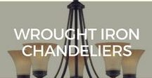 Wrought Iron Chandeliers / Wrought iron chandeliers add luxury and elegance to any space.