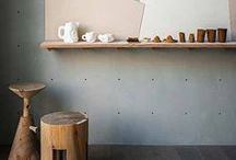 neutral / styling, natural home, fur, timber, stone, leather, interiors