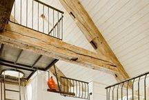 Obsession with wooden beams. / House inspiration and beam dreaming.