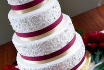Wedding Cake Red, Orange, & Yellow