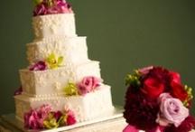 Wedding Cake White with Flowers