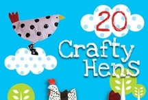 Hen Craft Challenge / Paper Hen Craft Challenge for members of Kid Bloggers Network, Craft Chat with Red Ted Art group and Real Life & Creative Mommy Bloggers group.  Paper Hens (and maybe a few wanna-be roosters) that represent the crafters, their country town or city, their story.... or their quirky sense of humour - game on!! / by MollyMooCrafts