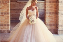Wedding Bridal Gown Ball Gown / Marked by a full skirt and small waist, this dramatic silhouette is great for camouflaging problem areas in the hips and thighs—and for making an entrance.