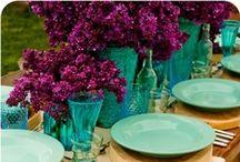 Kaitie's Favorite Wedding Colors / Jewel tones purple, turquoise, fushia, cream