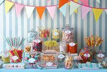 ♥Candy bar * Mesas dulces * Table dessert♥ / Increíbles ideas para decorar tus fiestas...