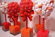♥Topiarios y Centros de mesa para Candy bar♥