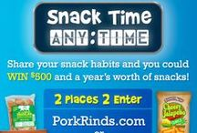 Snack Time Anytime! / Breakfast, Brunch, Lunch, Linner, Dinner - anytime is a great time to enjoy Rudolph's! Enter for your chance to win $500 and a year supply of snacks: http://www.rudolphfoods.com. / by Rudolph Foods