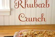 Rhubarb Recipes / by Colleen Prokop