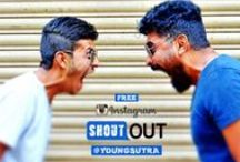 #YoungsutraShoutOut / Be the Person everyone LOOKS UP TO and not DOWN ON.  Younstura gives you a chance to win a free shout out, get noticed & get followed.... Follow Youngsutra on Instagram & send in your  ‪#‎wEird‬  ‪#‎sAxy‬  ‪#‎hAndsUm‬  ‪#‎sElfiE‬  ‪#‎advEnturEs‬  ‪#‎coEL‬  ‪#‎cutE‬ ‪#‎bEautifOl‬ ....  pictures either on Insta or email us on youngsutra.info@gmail.com.