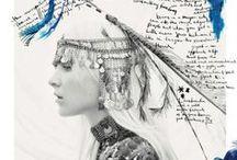 Inspiration: Hippie, bobo, bohème, indien ☮ / motifs, matières, détails, plumes, décoration, illustration