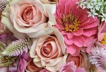 flower and power ☮ / Fleurs, tissu, vrai fleurs, différentes, couleurs