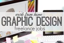 Freelance Graphic Designer / If you want to work as a freelance Graphic Designer and make money online this board will help you!   #graphicdesign #graphicdesigner #freelancerdesigner #graphicjobs #graphicwork