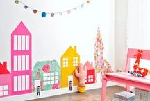 Kids decoration / Inspiration for the kids bedrooms, playrooms. With so many amazing ideas I could change the decoration every day!