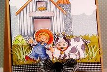 """RUBBER STAMP IT! / Some pretty great stamping ideas from the High Hopes Rubber Stamping """"Dream Team"""" using Annie Lang's character stamps For more information on where you can get these stamps and more, please visit http://highhopesstamps.blogspot.com"""