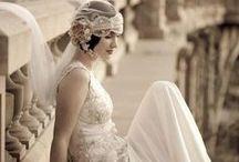 Vestidas de Blanco / Novias, vestidos, peinados,  recogidos, tocados....  / by Fina Moreno