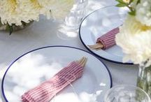 July 4th / Americana inspired decor and entertaining ideas for July 4th.