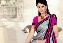 Party Wear Indian Saree / Beautiful party wear sarees with unstitched blouse now available at an irresistible price at Sahil Exclusive. Have a look at our complete Party Wear Saree collection here http://goo.gl/PT0dP5. For further inquiries email us at sales@sahil.com or call us at & 773-338-3636.