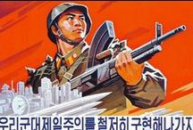 North Korean Propaganda art / Make no mistake, this is a grotesque regime - however, they do produce some genuinely classic Socialist realism themed artwork to get the messages across