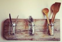Salvage-Style Storage + Solutions / up cycled and vintage style crafts to organize your space