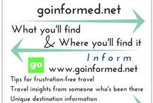 Travel Easier / Travel tips & hacks and stuff to make traveling easier & more fun. Visit my blog at www.goinformed.net :)