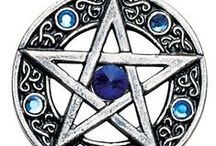 Pentagrams Pendants / A key symbol in western magical tradition, each point of the pentagram represents the four elements of Earth, Air, Fire, and Water, surmounted by Spirit. The Pentagrams in this collection come from a number of different magical traditions and were designed for many different purposes.