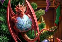 Yule Cards / Yule Cards by Anne Stokes and Briar.