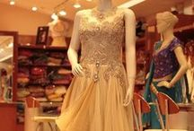 Designer Gowns / Vast and latest  variety of gowns to wear in parties and wedding  available in store and online at Sahil Exclusive.