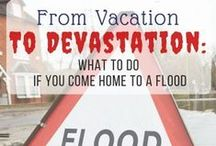 Water Damage Prevention / Tips and information about how to prevent water damage and flooding in your house when you go on vacation. What to do if you have a flood. Visit my blog at www.goinformed.net :)