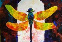Tablouri pe panza / tablouri pe panza pictate in culori acrilice sau in culori de ulei.