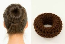 Hair Donuts / Bun Makers / Perfect Sock Bun Makers for your hair, handmade by VintageLookCreations