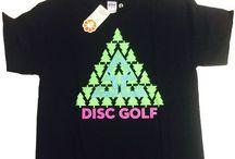 Disc Golf Shirts / A collection of disc golf shirts.