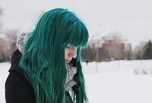 GREEN BLUE HAIR <3