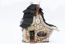 Mossy Brae Fairy Houses / Totally unique mixed media houses for fairies, earth spirits and the adventurous / by MossyBrae Fairies